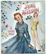 Vintage Whitman #2089 JUNE ALLYSON paper dolls 1957 uncut/Perfect!