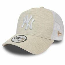 New Era Adjustable Trucker Cap - JERSEY NY Yankees cream