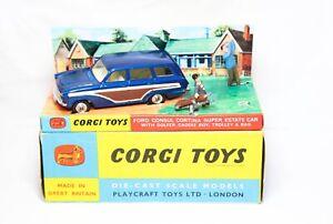 Corgi 440 Ford Consul Cortina & Golfer Set In Its Original Box - Near Mint Model