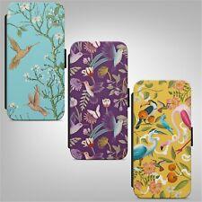 Bird Flower Pattern WALLET FLIP PHONE CASE COVER for IPHONE SAMSUNG HUAWEI