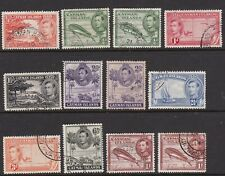 CAYMAN ISLANDS 1938 KGVI DEFINITIVES 12 STAMPS TO 1/- FINE USED