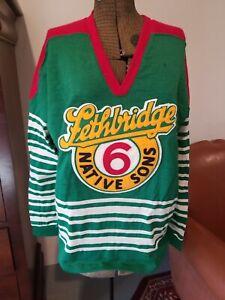 VTG 50s Lethbridge Native Sons Hockey Jersey Canada