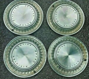 "1960 Pontiac Bonneville Catalina Ventura 14"" Hubcaps Wheel Covers OEM Good Set"
