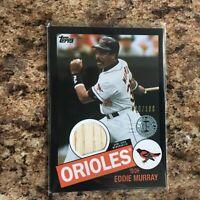 2020 Topps Eddie Murray Black 1985 Bat Relic 036/199 Baltimore Orioles