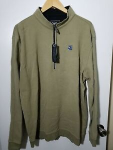 1 NWT STRAIGHT DOWN MEN'S PULLOVER, SIZE: 2X-LARGE, COLOR: OLIVE GREEN (J100)