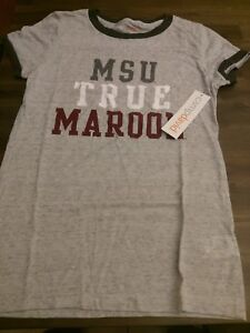 Mississippi State Bulldogs Women's T-Shirt Size Medium Camp David Color Charcoal