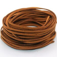 10yd Suede Leather String Thread Cord Jewelry Making Bracelet DIY Coffee 3mm