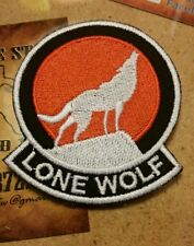Lone Wolf motorcycle vest jacket patch