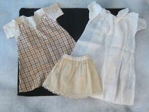 "Vtg Dress, Nightgown, Slips for Effanbee Dewees Cochran or Schoenhut 20"" Doll"