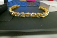 Nice gold and faux diamond bracelet