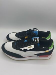 Puma Future Rider Wh Lace Up Men's Size 10.5 Black White Sneakers Shoes Casual