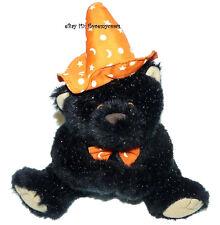 Sparkle Black Bear Halloween Orange Witch Hat Plush 10 inch Stuffed Animal Lovey