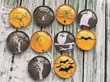 10 X 20mm ronda Spooky Halloween cabujones de imagen para la fabricación de joyas Artesanía
