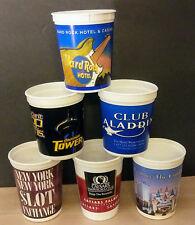 Lot of 6 - LAS VEGAS CASINO SLOT COIN CUPS - Caesars, Hard Rock, Aladdin & more!