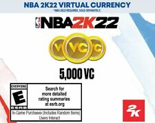 NBA 2K22 VC: 5,000 VC Virtual Currency **GLOBAL** ALL SYSTEMS