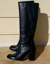 Fabrizio Chini Boots Shoes Black Leather Size 39 Made in Italy NIB