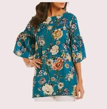 Bryn Walker Diego Floral Print Bell Sleeve Tunic Blouse Top XS, S, M, L, XL