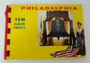 VINTAGE Philadelphia,PA.Ten Album Prints Spiral Bound Historic Circa 1970's