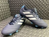 Adidas Mens Goletto Firm Ground Football Boots Shoes Blue UK Size 10.5 -VGC