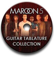 MAROON 5 POP ROCK GUITAR TAB TABLATURE SONG BOOK SOFTWARE CD
