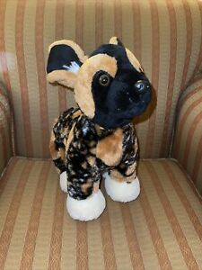 """VGUC-RARE-14"""" Build A Bear African Painted Wild Dog St Louis Zoo Exclusive"""
