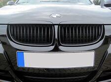05-08 BMW 3-Series E90 E91 Matte Black Kidney Euro Sport Front Hood Grill M Tech