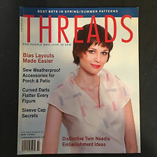 July 2003 No 107 Threads Bias Layouts Weatherproof Curved Darts Sleeve Cap