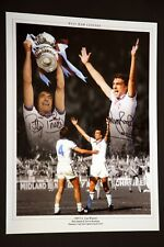 More details for billy bonds and trevor brooking hand signed west ham united football 12x16 photo