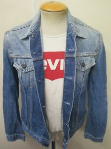 "VINTAGE Retro Grunge Levi's Red Tab Denim Jacket M 34"" UK 10 Euro 38"