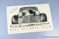 OPEL Olympia original Prospekt von 1950 po28