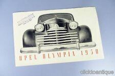 Opel Olympia original prospectus de 1950 po28