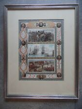 British Victories Land and Sea, Stunning  Framed Chromolithograph 1897 Jubilee
