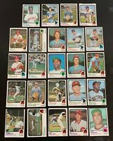 Lot of 24 1973 Topps Baseball High Number Cards - Clark, Lemonds, Hisle+