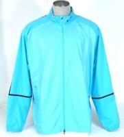 Nike Golf Blue Zip Front Stretch Windproof Wind Jacket Men's NWT