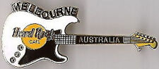 Hard Rock Cafe MELBOURNE 2000 Y2K WHITE Stratocaster Guitar PIN - HRC #5458