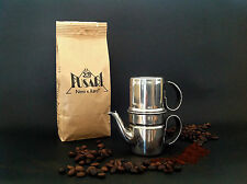CAFFETTIERA NAPOLETANA 4 tazze ACCIAIO INOX 18/10 FUSARI + 250 g CAFFE' FUSARI