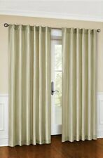 """NEW Canopy Faux Silk Lined Drapery Curtain Panel 54""""W x 84""""L, Stone"""