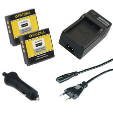 2x Batteria Patona + caricabatteria casa/auto per Kodak Klic-7004