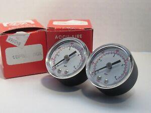 "NEW (LOT OF 2) ACCU-AIRE 15PB8-P60X 1-1/2"" 40mm PRESSURE GAUGE"