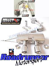 "Milltek Golf MK6 R Exhaust 3"" Race Turbo Back & De Cat Resonated No Valve Polish"