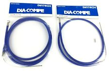 Dia-Compe BMX bicycle 5mm LINED front and rear embossed brake cables BLUE - NEW