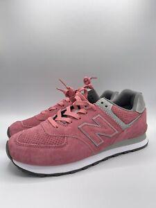 new balance 574 rosa pelle