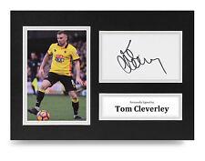 Tom Cleverley Signed A4 Photo Display Watford Autograph Memorabilia COA