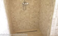 Mosaik Naturstein Travertin Light getrommelt Fliesen Wand+Boden Antikmarmor 5x5