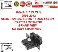 RENAULT CLIO MK3 2005-2012 REAR TAILGATE BOOTLID  LOCK LATCH CATCH ACTUATOR NEW