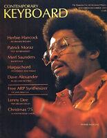 1975 Contemporary Keyboard Magazine, HERBIE HANCOCK Patrick Moraz, EXC CONDITION