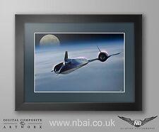 Framed Lockheed SR-71 Blackbird / Habu FRAMED PRINT, Digital Artwork
