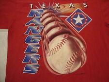 Vintage MLB Texas Rangers Baseball Fan Club Sportswear Red T Shirt Size L