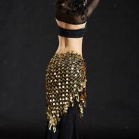 Belly Dance Costume Hip Skirt Scarf Wrap Waist Belt Bling Coin Sequin Tassel