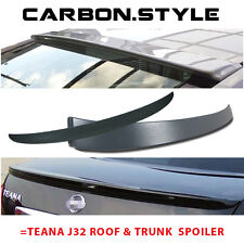 COMBO Unpainted For Teana J32 OE Roof Wing  + Trunk Boot Spoiler Rear 09 12